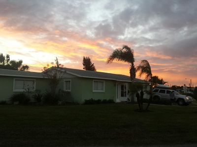 Beautiful sunrise over our seaside house taken in November 2013.