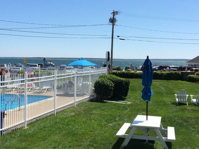Heated pool overlooking Vineyard Sound