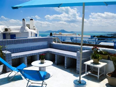 Photo for Cosy 3 Bed Apartment @ Sidi Bou Said Village