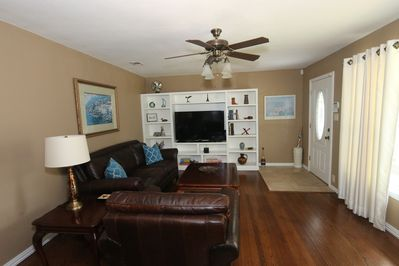 """Living Room with 55"""" Samsung Smart TV"""