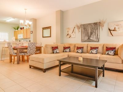 Photo for Beautiful 3 bedroom townhome with conservation view just steps from the pool!