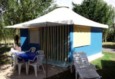 Photo for Camping *** Cendrée Seagull - Bungalow Toilé 3 Rooms 4 People