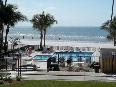 Photo for Beachfront corner unit overlooking the Club pool, beach and Gulf