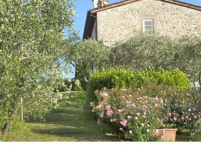 Photo for Villa Carolina is an antique straw barn completely restored, situated in a small hamlet of properties located on the hillsides east of Lucca. This property is immersed between vineyards and olive trees with views over the city of Lucca.