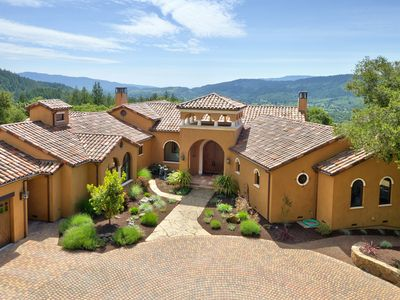 Photo for Stunning Hill Top Wine Country Estate - Panoramic Views, Pool, Hot Tub