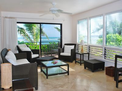 Photo for Ocean front cottage with 2 bedrooms - Hale Makai Cottages - Cottage #2 Hibiscus
