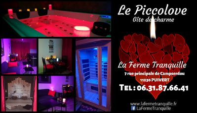 """Photo for """"PICCOLOVE"""" GÃŽTE Romantic Cottage with Sauna And Private Spa"""