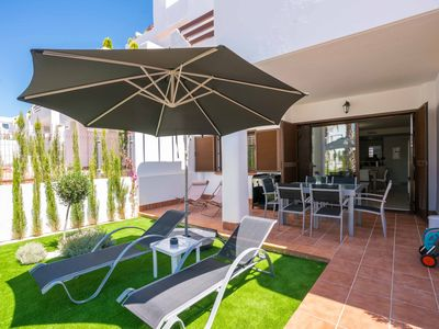 Photo for Lovely and cheerful apartment  with communal pool in San Juan de los Terreros, Andalusia, Spain for 4 persons