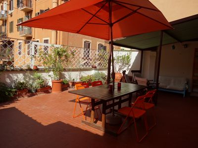 Photo for Rome: Cozy and Shiny  Apartment close to Vatican's Museum- Terrace - Wi-FI- The House of color