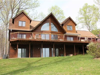 Photo for Beautiful Cedar Lakefront Home, Large Dock with Party Deck, Wide Water Views, Great Location!