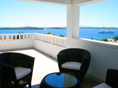 Photo for HVAR MOOD HOUSE - HVAR EXCLUSIVE SEA,SUN & STARS APARTMENT: MAGNIFICENT SEA VIEW