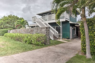 This Kailua unit is located on the lower level of a home.