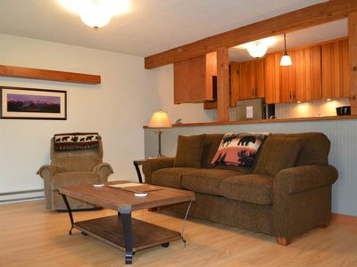 Photo for Ponderosa 412: The Aspens - Renovated Ground Floor Condo with Wooded Views and Patio