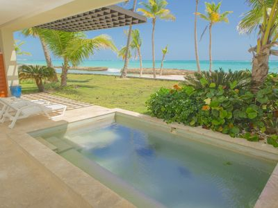 Photo for LUXYRY BEACHFRONT, 1st LINE, PRIVATE POOL, CAP CANA, PUNTA CANA SOTOGRANDE.