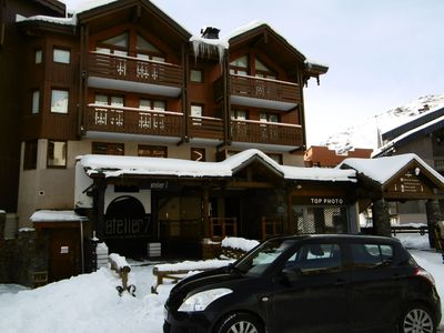 Photo for Apartment for 8 people, near church, with balcony on west in Val Thorens