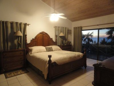 Master bedroom with sea and island view
