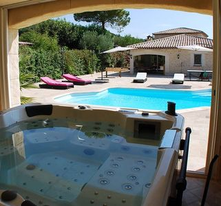 Photo for Between sea and countryside Air-conditioned villa 6 pers heated pool and SPA