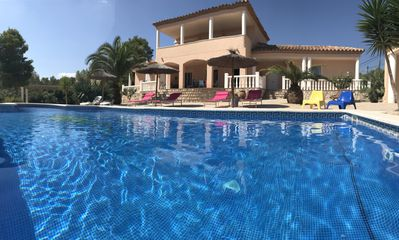 Photo for Great Recent Villa Air Conditioned, Private Pool, BBQ Area, Garden with trees