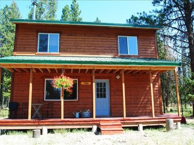 Photo for Relaxing Getaway Bordering Public Forest, Near Seeley Lake, Skiing, Hiking!