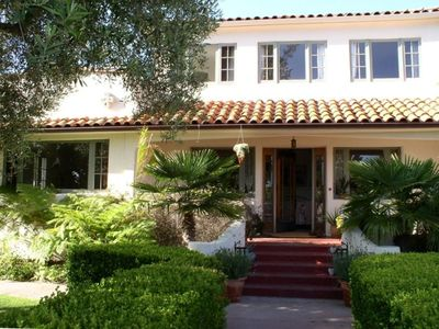 Classic Spanish style architecture from the 1920's with private tropical grounds