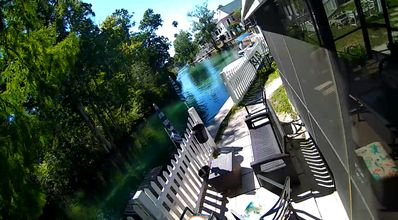 Location! River front swim outside your door in clear water , kayaks,