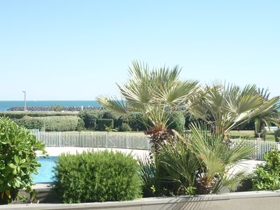 Photo for Apartment facing the sea in Cap D'Agde Beach Rochelongue