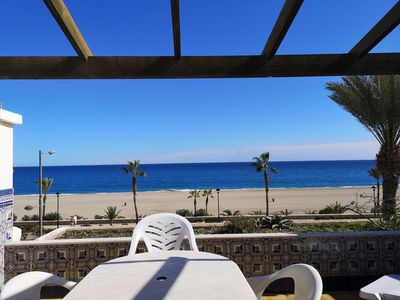 Photo for Apartment in First Line of the Beach with WIFI, and Wonderful Views of the Sea