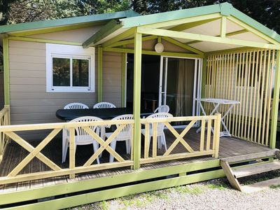 Photo for 2 bedroom chalet in campsite *** with heated pool and jacuzzi