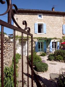 Photo for Nice, fresh cottage with charming garden, 2 steps from the river and the village