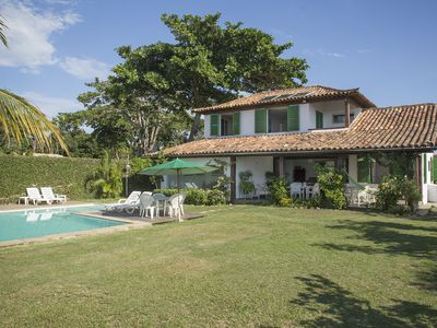 Photo for Beautiful house with six bedrooms, sea front of Manguinhos