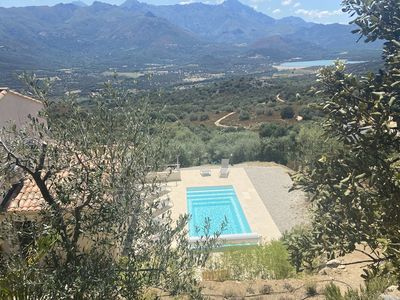 Photo for Exceptional view, in Monticello, 10 minutes from Ile Rousse, air-conditioned house & swimming pool