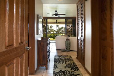 On entry you will notice the view and woodwork