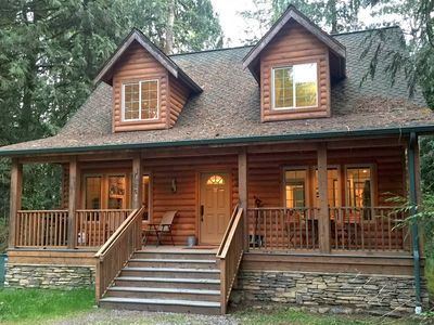 Photo for Glacier Springs Cabin 89 Cedar and Log Cabin sleeps 4 close to skiing and hiking