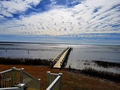 Photo for GORGEOUS SEAHORSE.  BOOK 4 AUG & LABOR DAY.  FISH, KAYAK, DOCK, VIEWS STUNNING!!