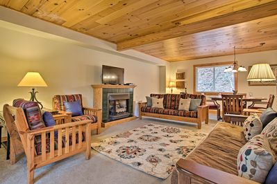 Relax in the spacious living area after a day of hiking.