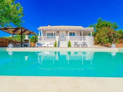 Photo for Stylish New Villa with Private Infinity Pool, Amazing Sea Views and 500 m to the Beach!