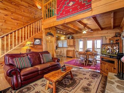 Photo for Paradise Ridge Log Cabin... Spectacular Mountain and City View of Pigeon Forge