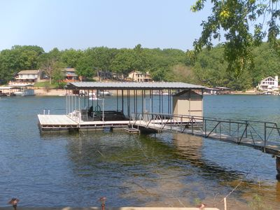 2 well dock with swim platform.