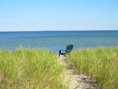 Photo for Lake Michigan Cottage located on beautiful Cathead Bay