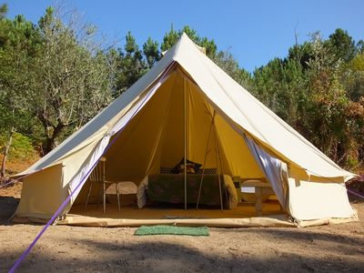 Photo for Comfortable camping in the slowly-beating heart of central Portugal.