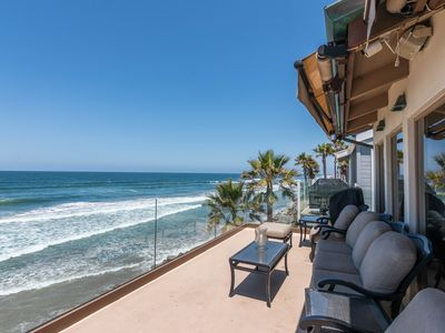 Photo for FUN IN THE SUN, OCEAN LIFE, PERFECT BEACH FRONT HOME FOR HOLIDAY