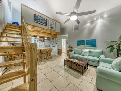 Photo for Classic beach condo w/shared pool, loft, shared grill - walk to the beach!