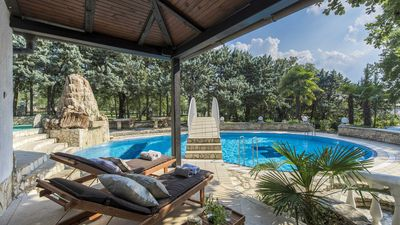 Photo for Luxury 5 * Villa-PRIVATE TENNIS COURT, pool, sauna, beach nearby, Istria