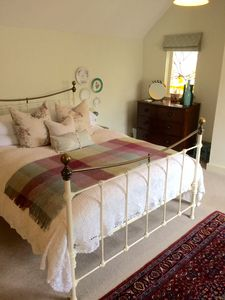 Egyptian cotton sheets, bed topper and goose down pillows and duvet