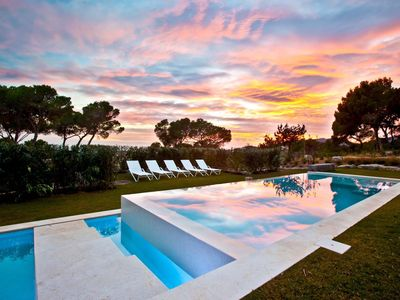 Photo for A beautiful modern villa with sea views in one of the island's best locations.