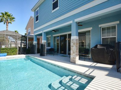 Photo for BRAND NEW AT REUNION! MODERN DECOR, PRIVATE POOL, BBQ GRILL, CLOSE TO THE PARKS