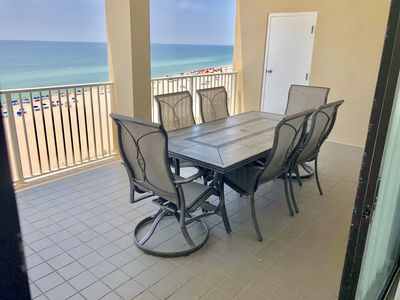 Photo for Huge Balcony With Beautiful Gulf-Front Views on the 9th Floor, Directly on the Beach!