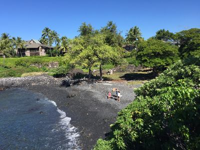 View from the yard looking down on historic He`eia Bay.