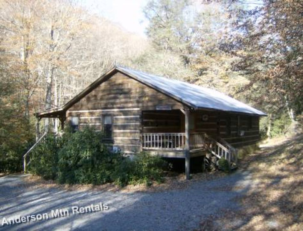 Covered Porch On Trout Stream Log Cabin Mi Homeaway
