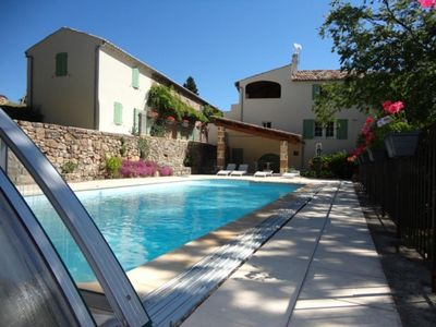 Photo for 3 * cottage with swimming pool all comfort - Former magnanerie in Ardèche